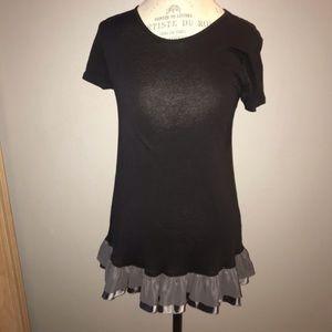 Simply Vera Vera Wang Black Long Shirt Size Small